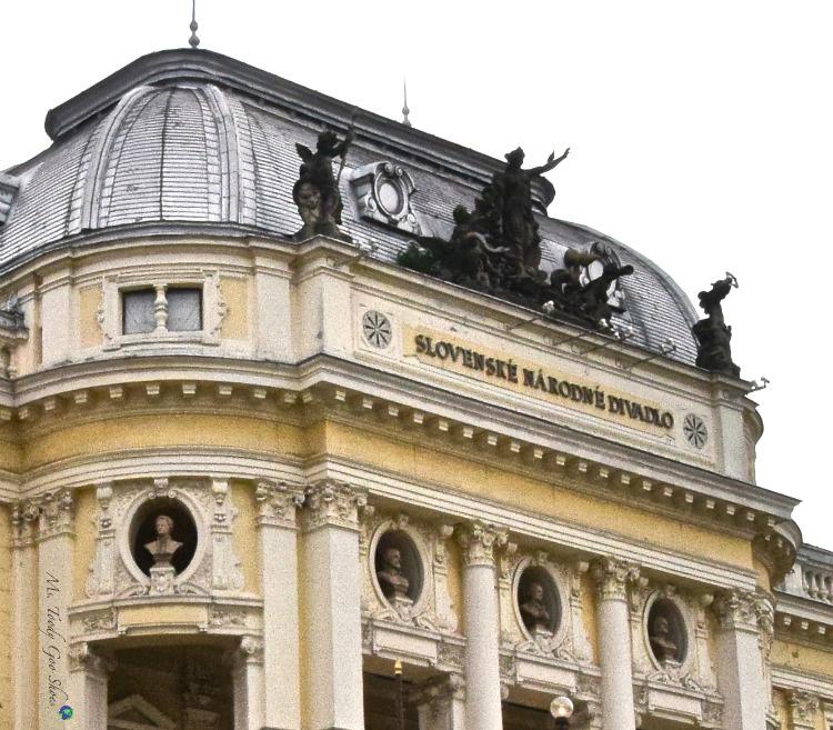 Slovak National Theater in Bratislava's medieval Old Town | Ms. Toody Goo Shoes #bratislava #slovakia #danuberivercruise