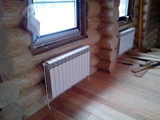 Фото Установка радиаторов отопления
