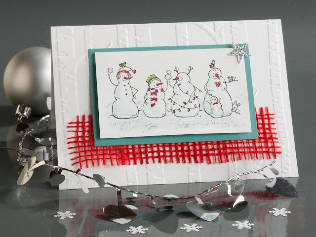 Schneemann, Stempel, Weihnachtskarte, Winter, Stampin up