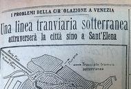Titolo del Corriere del 1929 sulla metropolitana sublunare
