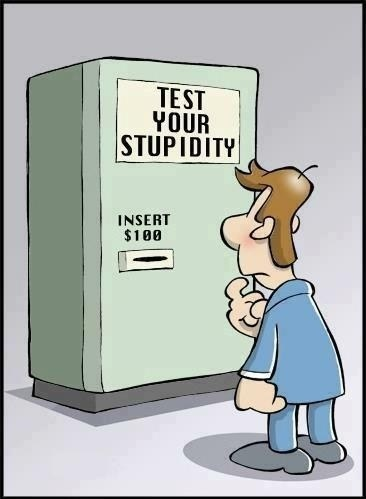 Funny Cartoon Picture - Test Your Stupidity