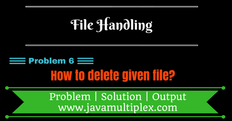 Java program that deletes a given file.