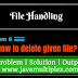 How to delete given file in Java?