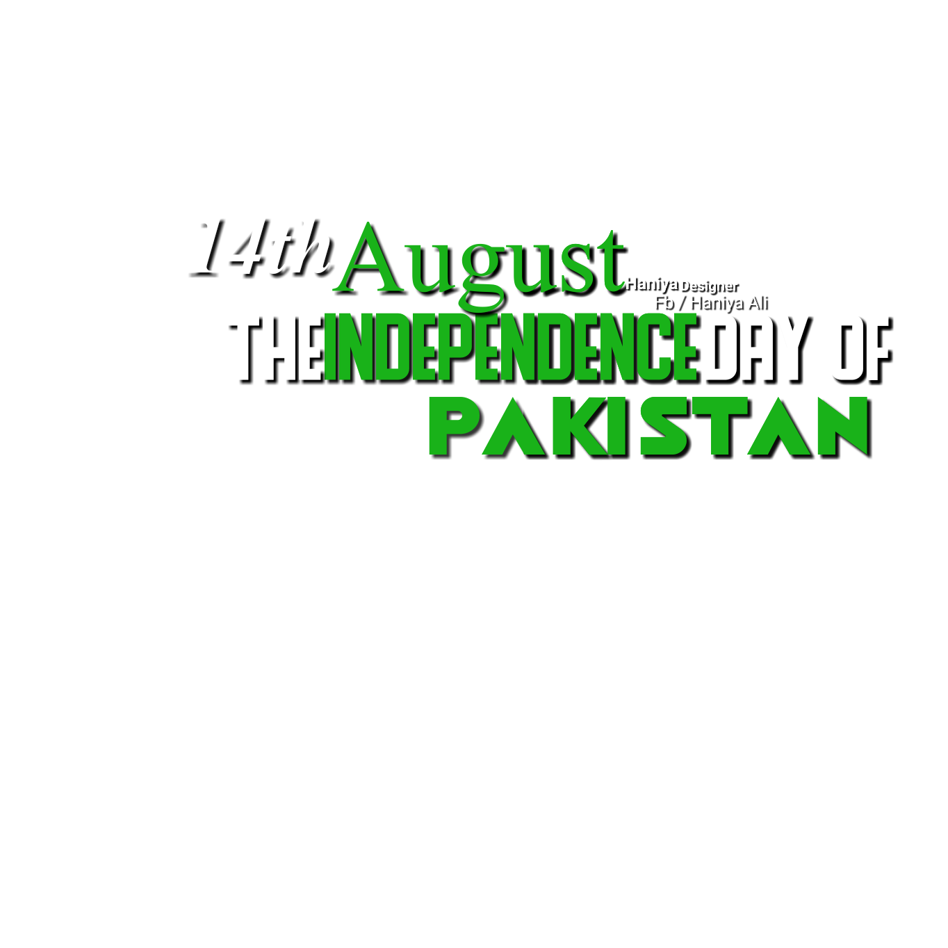 14th August Png Text Made By Haniya Ali