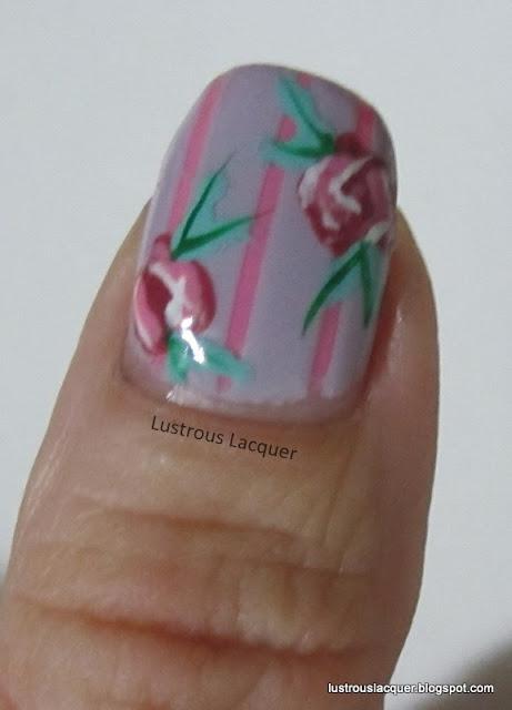 Vintage Rose, Nail art, manicure