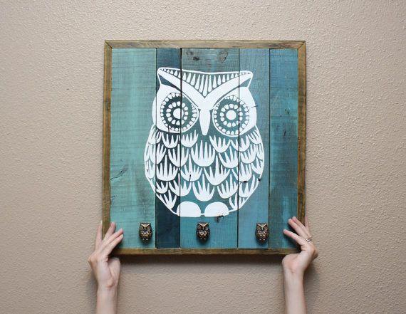 el yapımı boyama baykuş tablo