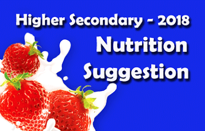 Nutrition Suggestion for  Higher Secondary Examination 2018