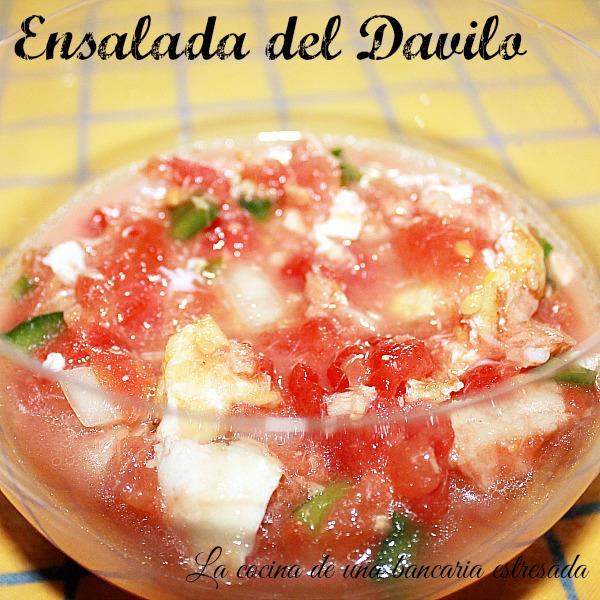Ensalada pipirrana, ensalada Davilo