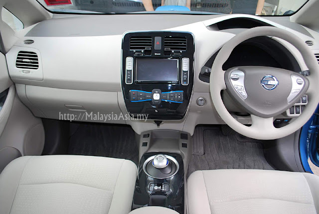 Interior of Nissan Leaf Car