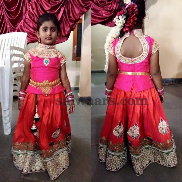 Baby In Pot Neck Blouse Indian Dresses