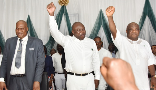 Photos: Ambode in school uniform to his Alma mater, FGC Warri 1