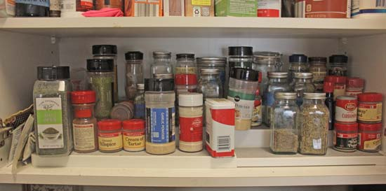 diy cabinet door spice rack