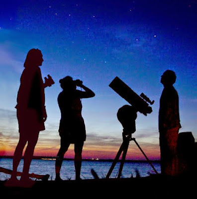 Amateur Astronomy Stargazing and Observing Session