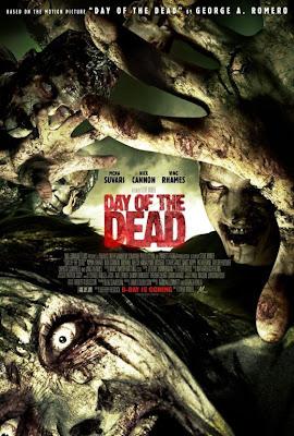La locandina di Day of the Dead: poco a che fare con l'originale di Romero