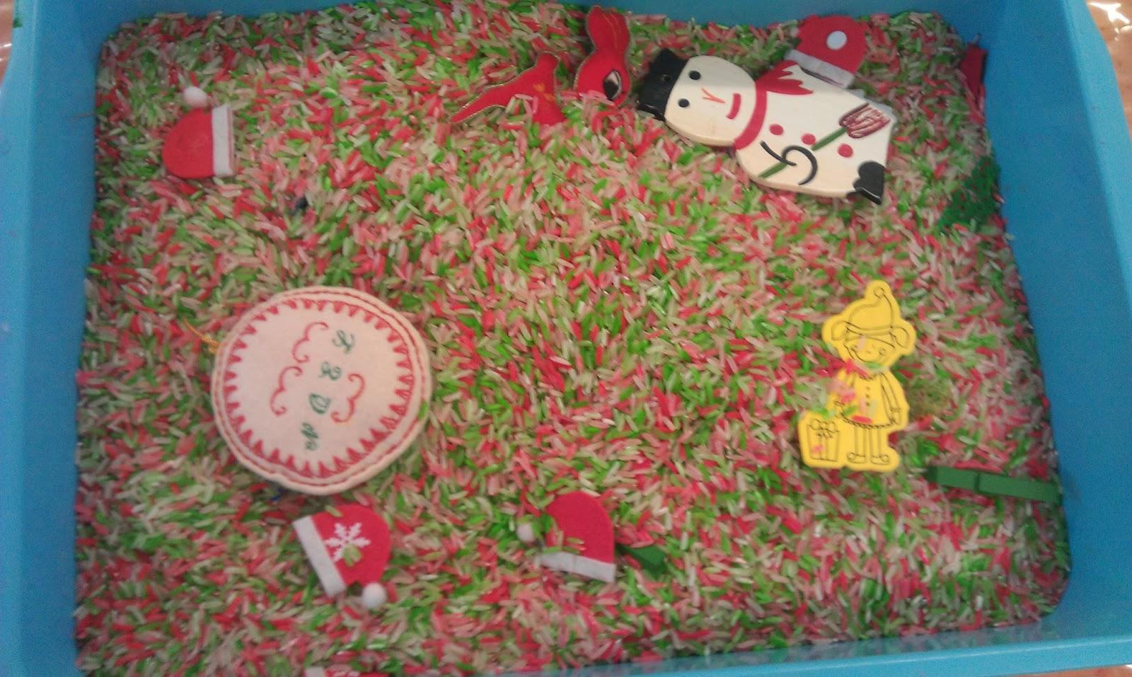 Montessori Christmas Shelves