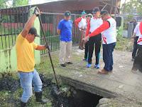 Bersama Kapolrestabes Medan,Wakil Wali Kota Ikut Gotong Royong Kerukunan