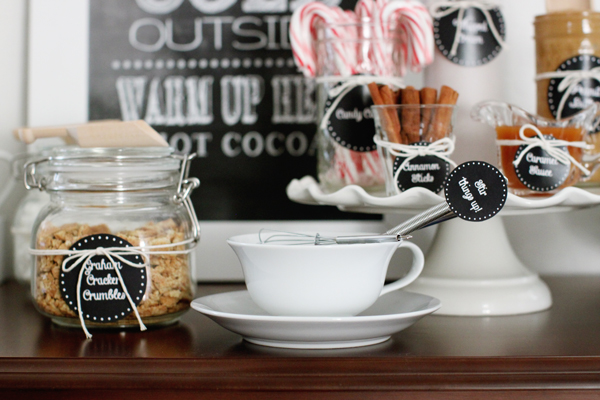 Stir things up with a custom hot cocoa bar
