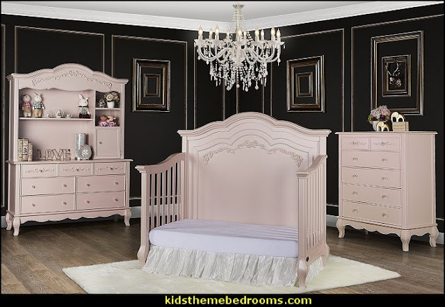 Blush pink decorating - blush pink decor - blush and gold decor - blush pink and gold bedroom decor -  blush pink gold baby girl nursery furniture - blush art prints -