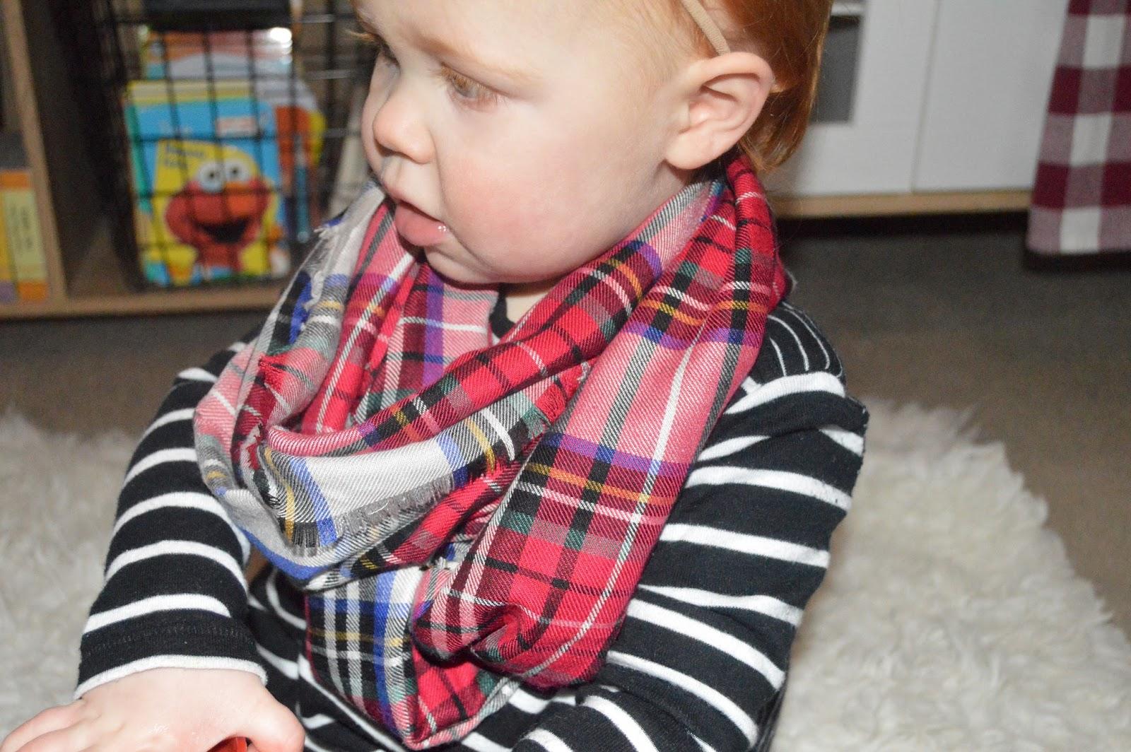 DIY no sew toddler blanket scarf