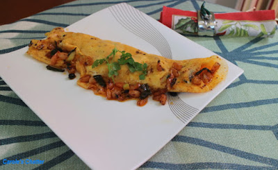 Carole's Chatter: Spicy Shrimp Omelette for One