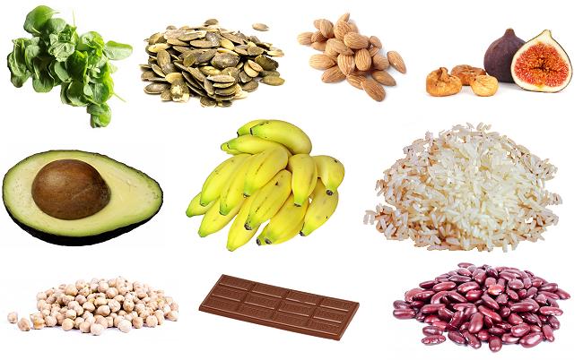 potraviny obsahujúce horčík