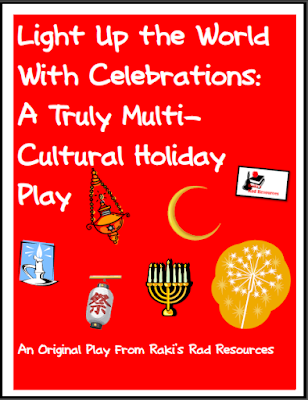 Free winter holiday play with a focus on how light is used in celebrations around the world. Free download from Raki's Rad Resources.