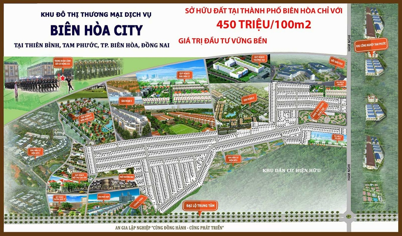 tong the khu dan cu Bien Hoa City