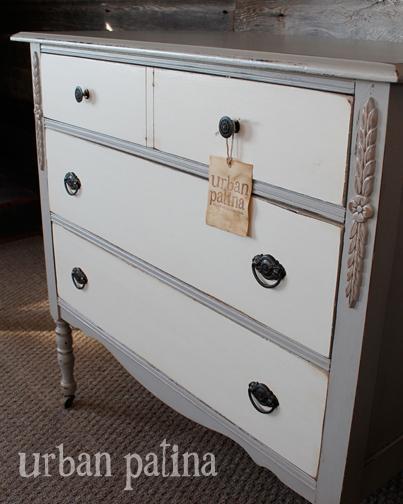 Grey White Dresser