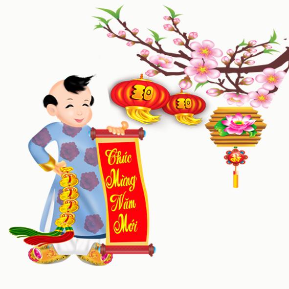 Hoa văn decan Trang trí tết