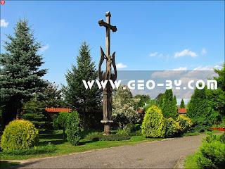 Костел Троицкий в Гервятах. Крест с распятием