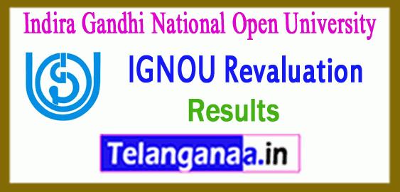 IGNOU Indira Gandhi National Open University Revaluation Result
