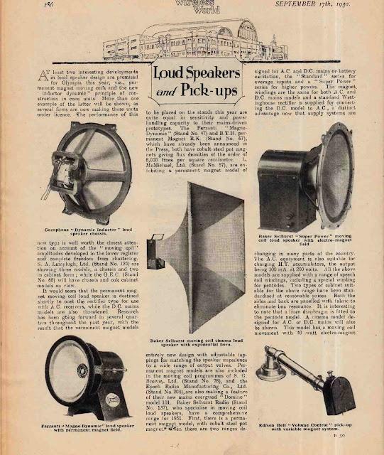 1930 Loudspeakers and Pick-ups