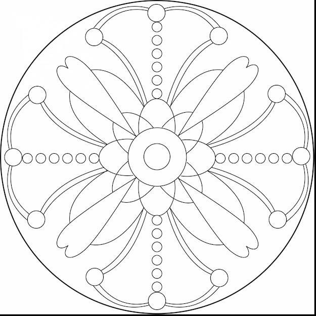 Extraordinary Printable Mandalas Coloring Pages Plex With Printable Mandala  Coloring Pages And Easy Printable Mandala Coloring