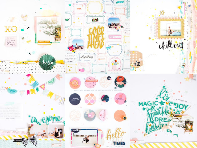 Favourite Layouts by ScatteredConfetti. // #scrapbooking #citrustwistkits