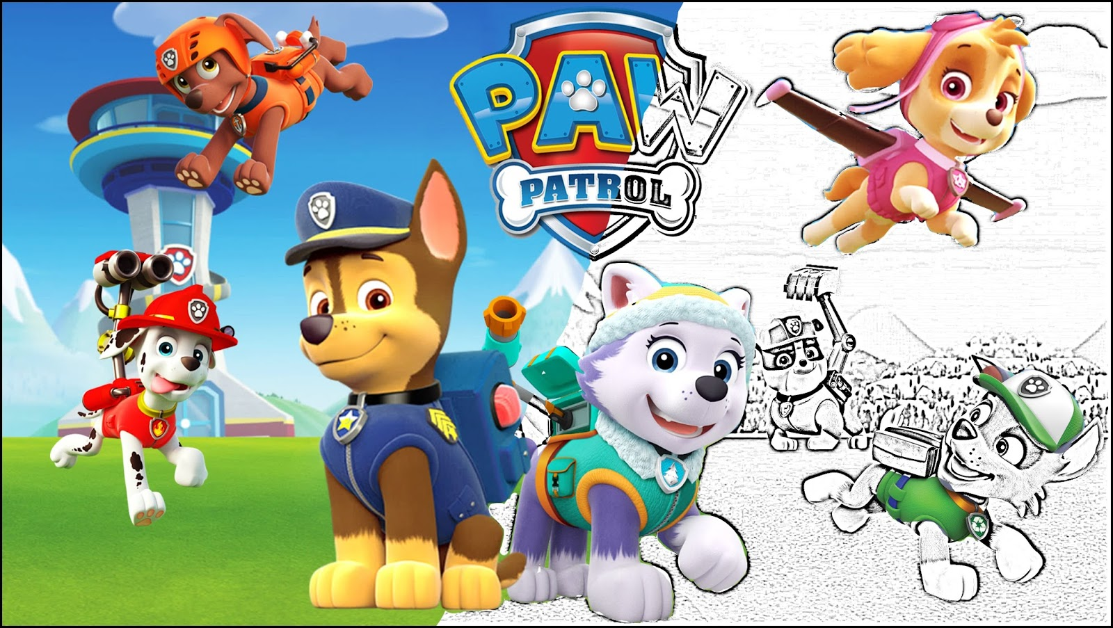 Paw-patrol-coloring-book-as-well-as-printable-paw-patrol - Coloring Page
