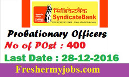 syndicate bank po 2016