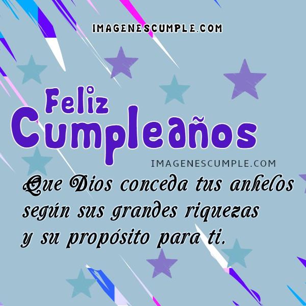 Imágenes de cumpleaños con mensaje bonito, tarjetas de feliz cumpleaños con frases cristianas por Mery Bracho. Felicidades.