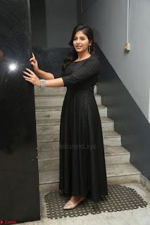 Anjali in Black Short Dress at Chitrangada Movie Success Meet ~  020.JPG