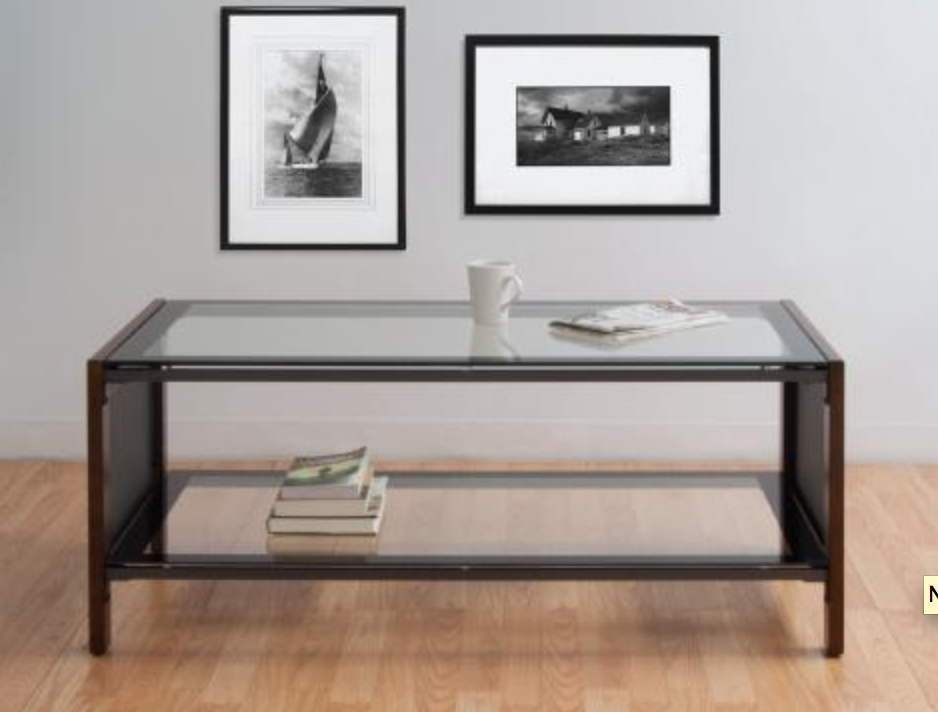 56005 Modern Glass Coffee Table by Calico Designs