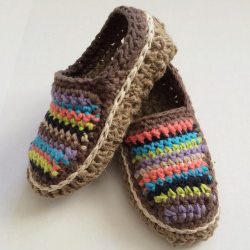 Striped Moccasins - Free Pattern