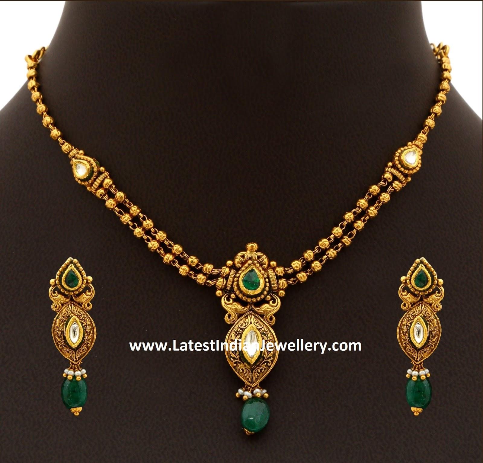 20gms Antique Gold Necklace