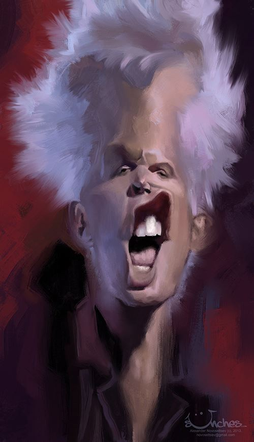 Billy Idol por Alexander Novoseltsev