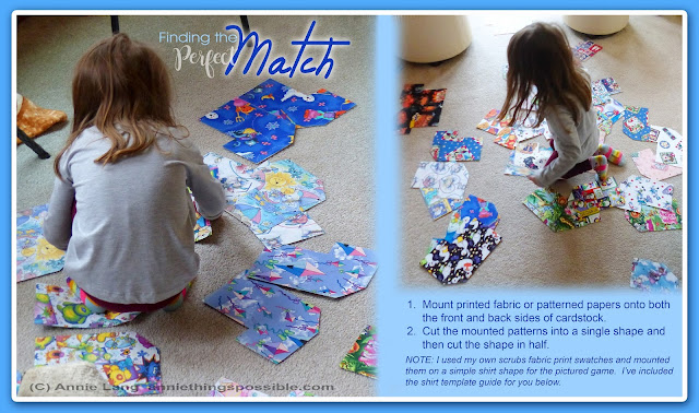 Make this fun DIY matching game for kids and download Annie Lang's Free template and instructions.