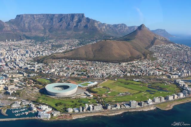 Stadtlandeltern - Kapstadt - Tafelberg - Luftaufnahme