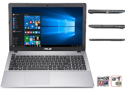Notebook Asus X550ZE ada keyboard numeric