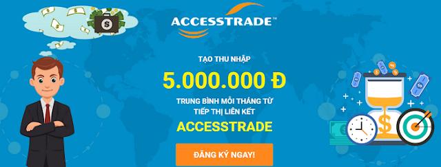 Hướng dẫn đăng ký kiếm tiền với AccessTrade
