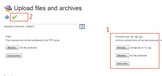 upload wordpress.zip ke folder htdocs