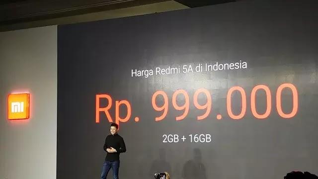 Xiaomi Redmi 5A, HP Murah Di Bawah 1 Juta
