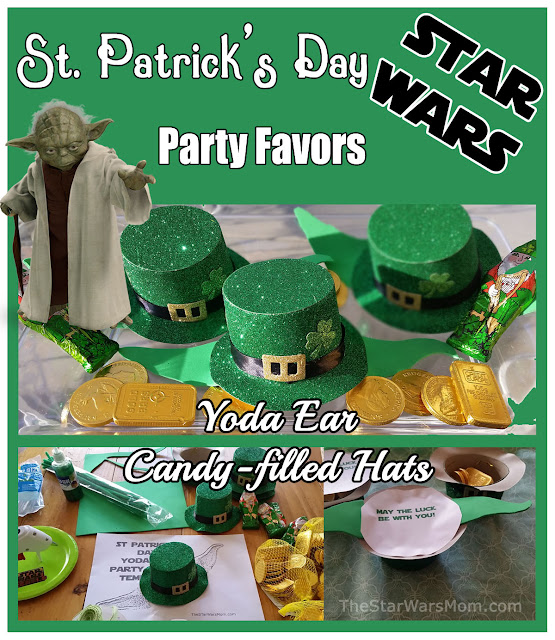 St. Patricks Party Favor - Star Wars Candy Filled Yoda Hat - St Yodatricks Day