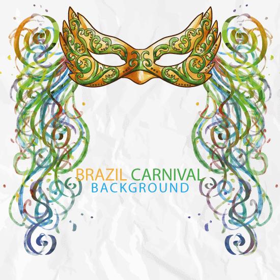 Fondo de Carnaval de Brasil - vector